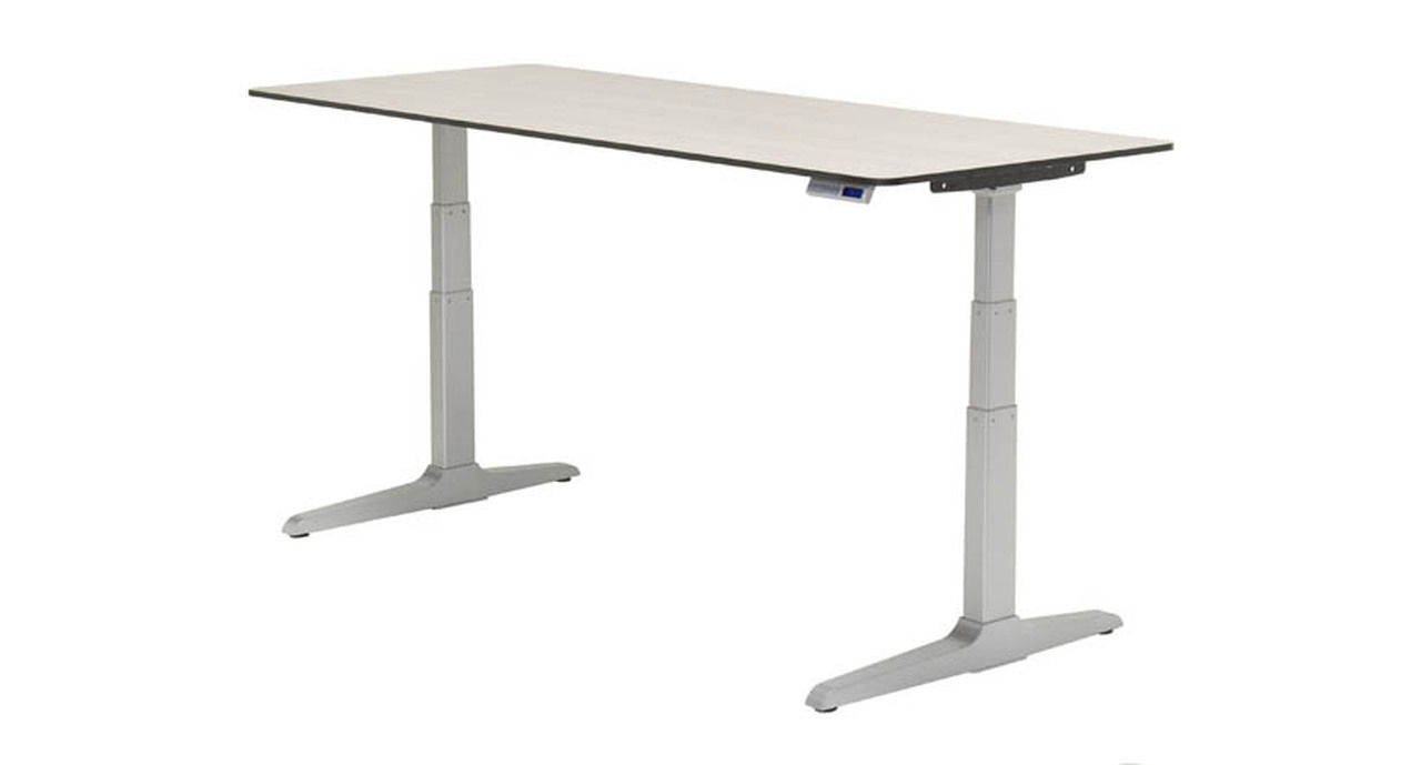 Desk Height Adjusts An Extended Range Of 26 Quietly And Smoothly