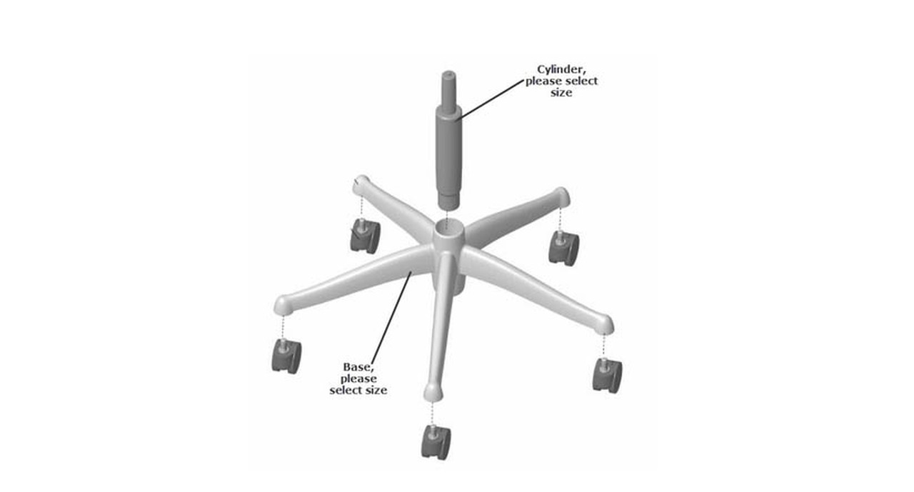 Humanscale Freedom Chair Replacement Base & Cylinder Parts