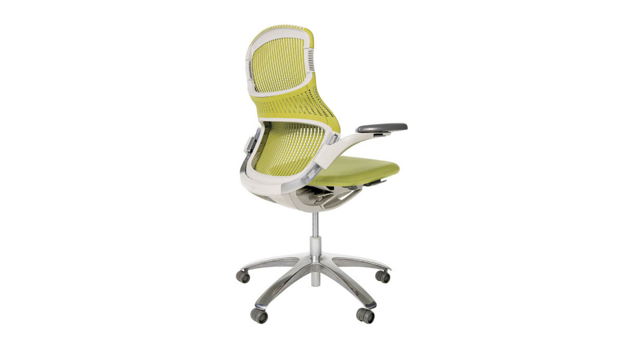 Height Adjustable Arms Provide Lumbar Support When Sitting Sideways