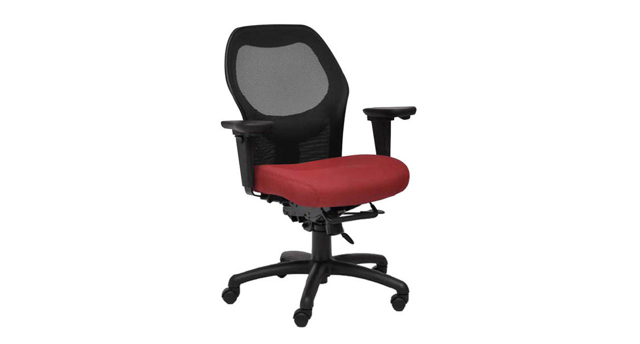 Adjustable lumbar support  sc 1 st  The Human Solution & Seating Inc. Grid 300 Mesh Back Task Chair with Optional Headrest
