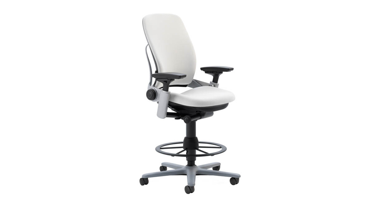 Steelcase Think Leather Height Adjustable Drafting Stool