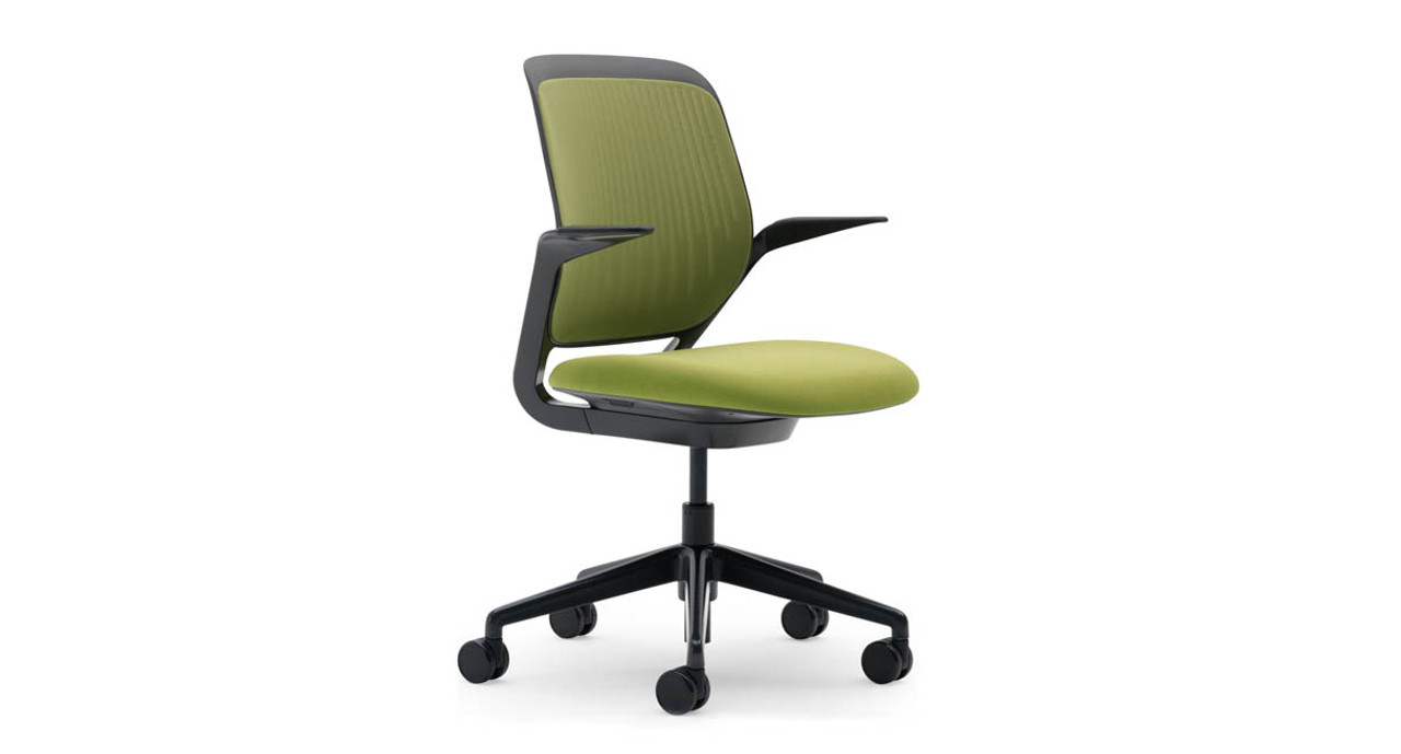 Seat Height Adjusts Easily With A Single Lever On The Cobi Chair