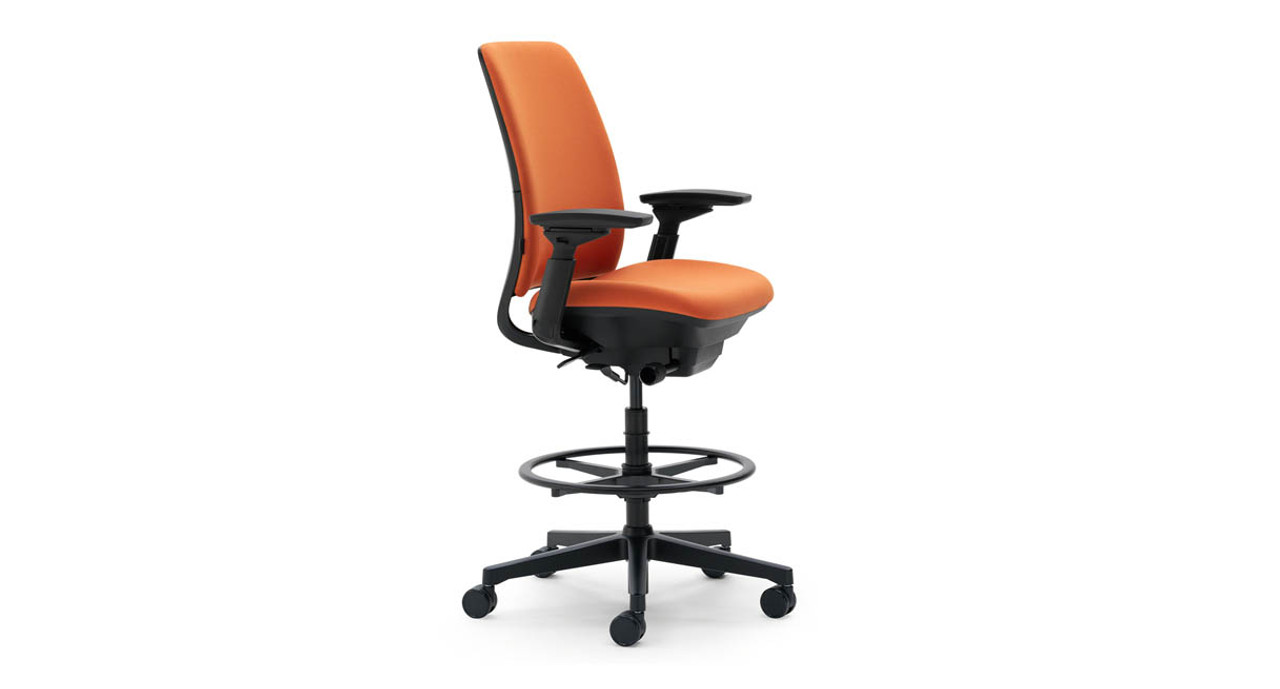 Easy to adjust back tension lets you move from upright to reclined positions quickly  sc 1 st  The Human Solution & Steelcase Amia Drafting Chair | Shop Steelcase Amia Chairs