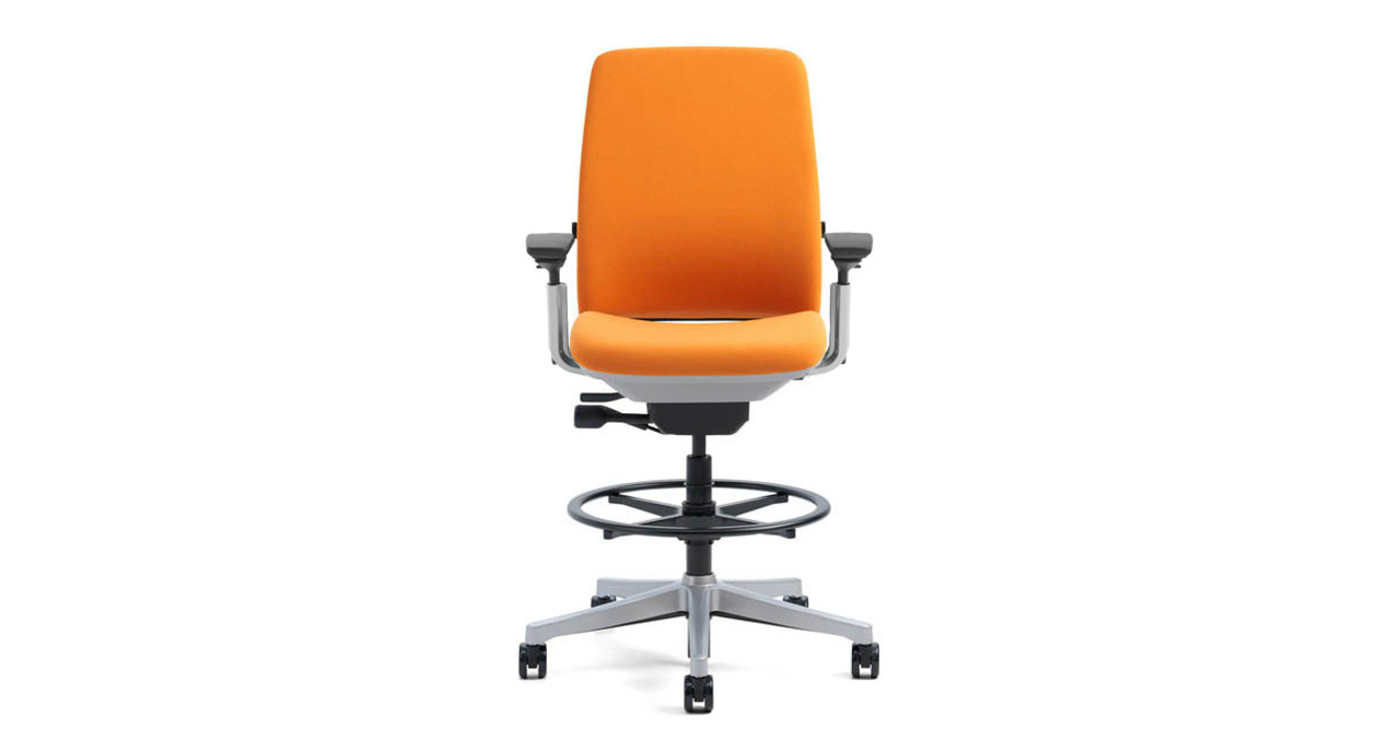 The Steelcase Amia Drafting Chairu0027s LiveLumbar Technology Supports The  Lower Back By Flexing With Your Movements