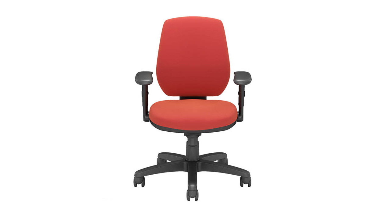 Injected molded back features a curved design  sc 1 st  The Human Solution & Via Riva Ergonomic Task Chair