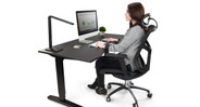 Allows you to alternate between sitting and standing at work for better health and productivity