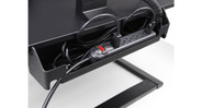 Built-in cable management on the back makes tucking away cords easier than ever
