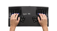 Keypad is sculpted and concave to fit the varying lengths of your fingers