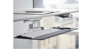 Compact 6F mechanism takes the height adjustment out of the keyboard tray mechanism and instead lets you use your height adjustable desk to get the tray in the proper position