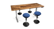 "Enjoy 26"" of height adjustment with the beautiful UPLIFT Woodland Conference Table"
