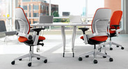 The Leap's adjustable arms are easily tailored to the user