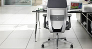 The Steelcase Gesture was modeled after the human body so that the chair itself could flex and conform to these postures