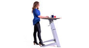 The only height adjustable desk that can transition between standard desk and drafting table