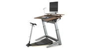 Includes angle and height-adjustable desk, adjustable seat with upgraded seat cushion color, anti-fatigue mat, shelf, cable management tray, and LED task light