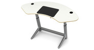 Transitions to a drafting table angled up to 15°