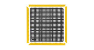 Use Notrax 551 MD ramps and connectors to convert mat edges to a beveled edge