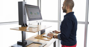 The E7 Electric Standing Desk Converter: Customizable, Adpatable, and Now Available for Pre-Order!