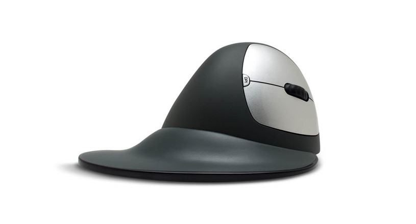 The semi-vertical design is a less extreme vertical mouse that will provide all-day comfort.