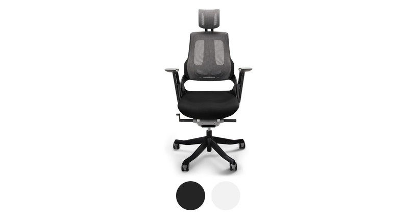 This chair comes in both black and white color options