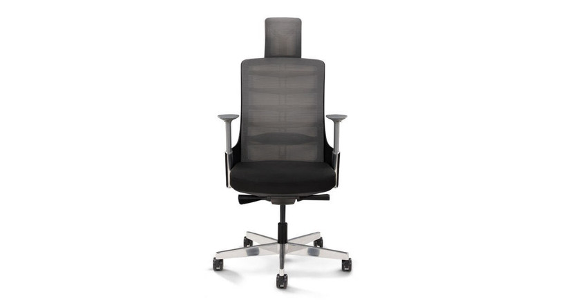 The Vert Ergonomic Office Chair by UPLIFT Desk mimics the curves of the spine to provide continuous support along the entire back