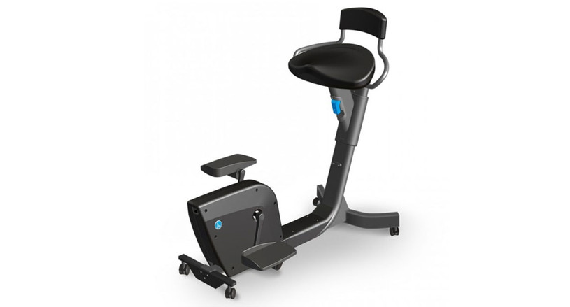The LifeSpan Solo Under Desk Bike features large pedals and a cushioned, waterfall edge seat for prolonged comfort