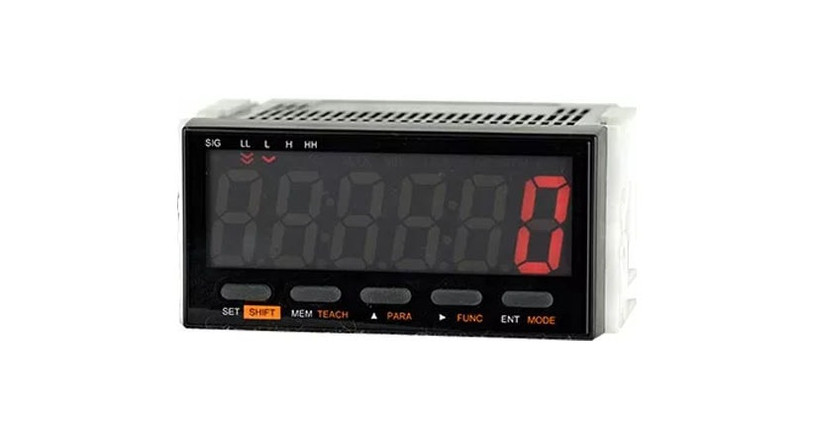 The Shimpo Panel Meter Tachometer [DT-501XA or DT-501XD] can be installed on panels with room for a horizontal 1/8 DIN cutout.