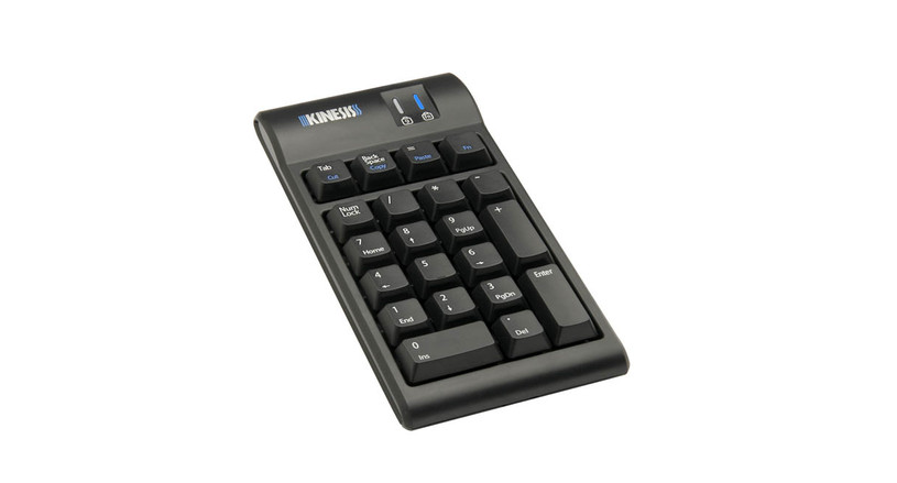 The Kinesis Freestyle2 Numeric Keypad features two USB 2.0 ports