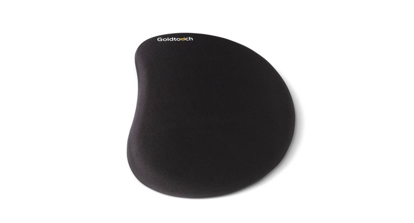 The Goldtouch Low Stress Mouse Pad supports the wrist and helps you attain a neutral wrist posture