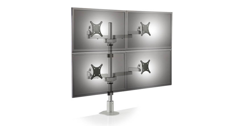 "Secure your screens on the 28"" pole"
