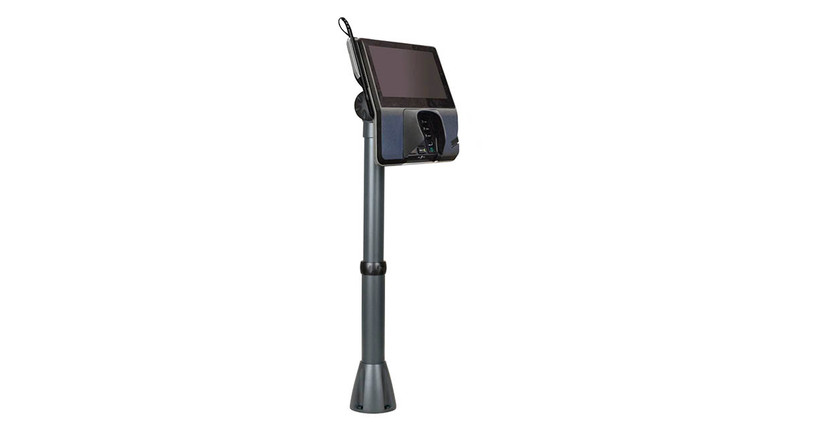 The Innovative 9183 Adjustable POS Countertop Mount tilts easily with the touch of a hand