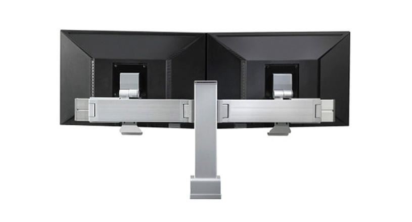 Monitor arm makes it possible for technology to adjust to the user rather than forcing the user to adjust to the technology