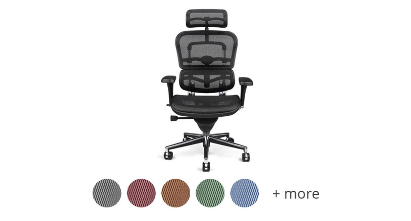This chair comes in several different mesh color options