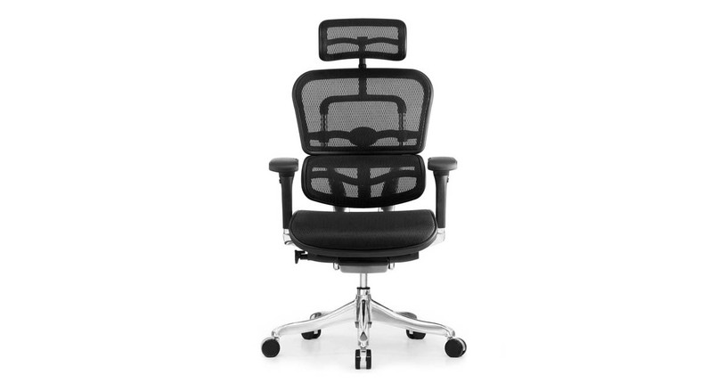 The Raynor Ergo Elite Chair with Headrest's tilt tension knob allows for simple and quick adjustment of back recline resistance