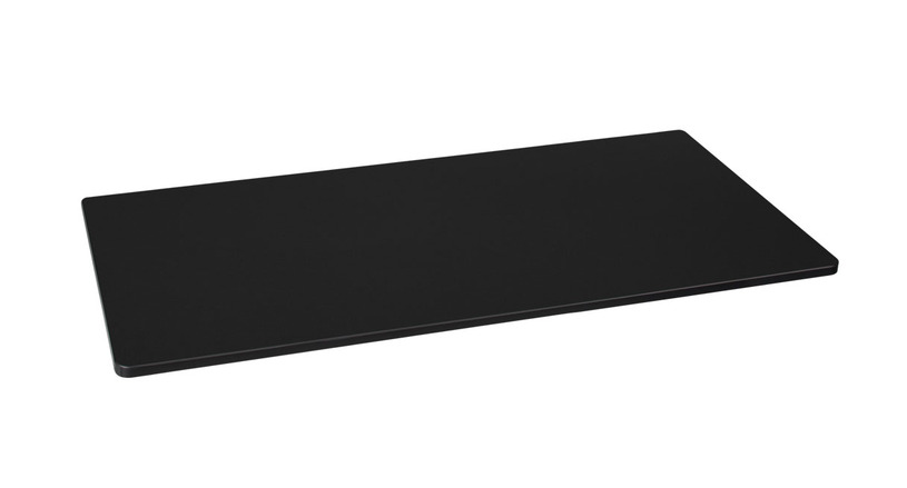 Black GREENGUARD Laminate makes a fine desktop for a variety of office styles