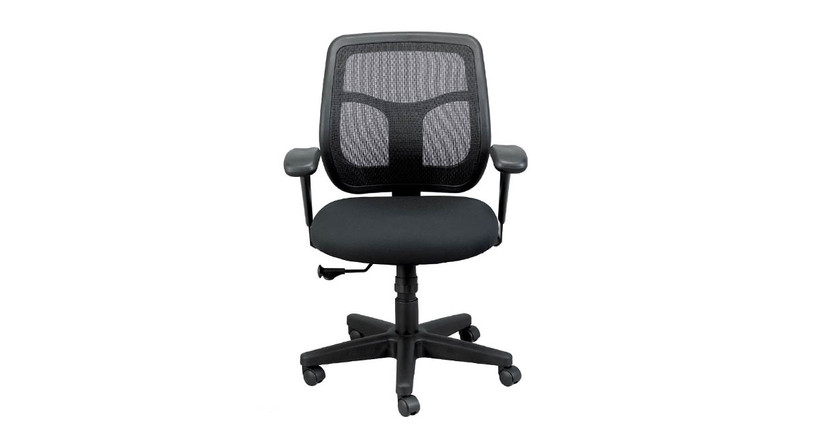 The Eurotech Apollo MT9400 Mesh Back Chair's synchro-tilt allows the back and seat tilt together in a preset ratio