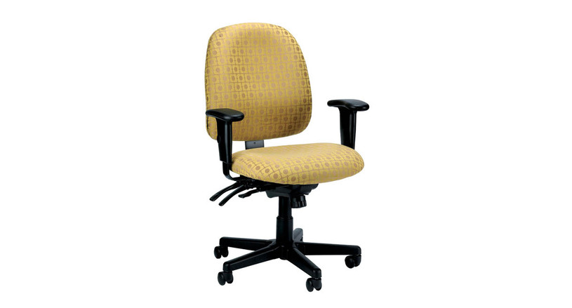 The Eurotech 4x4 Multi-Function Task Chair 49802A's waterfall seat greatly reduces pressure behind the knees, giving you better blood flow