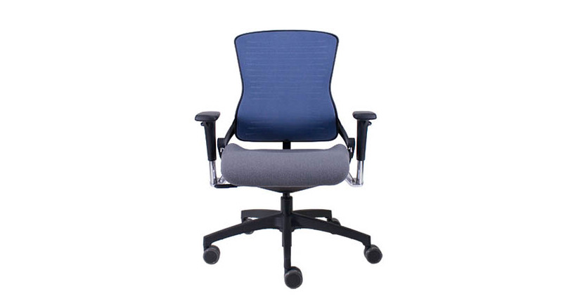 The Office Master Ergonomic OM5 Task Chair's flexible back resistance responds to user's body positions