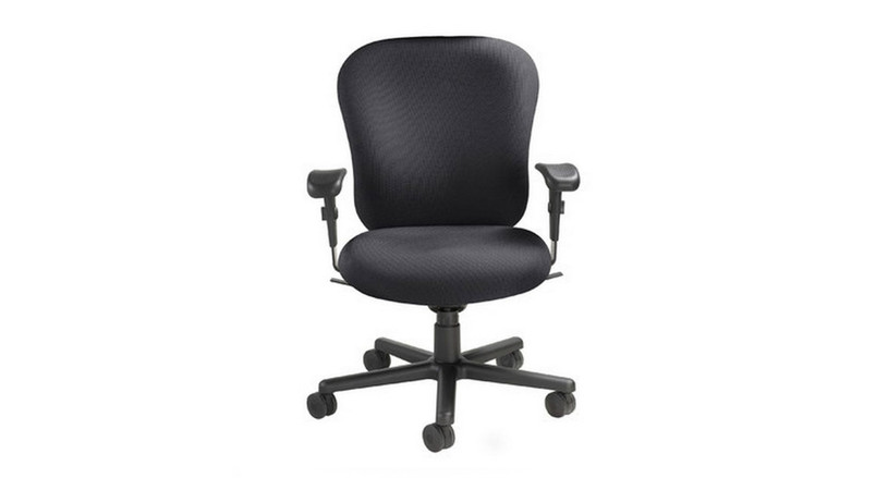 Contoured back offers exceptional ergonomic support