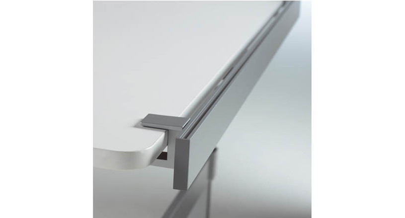 """Clamps onto freestanding desks or height-adjustable up to 2"""" thick"""