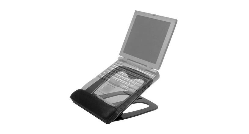 Easily portable ergonomic stand for laptops