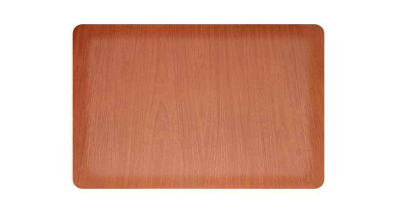 Attractive wood grain finish offers rich hardwood look