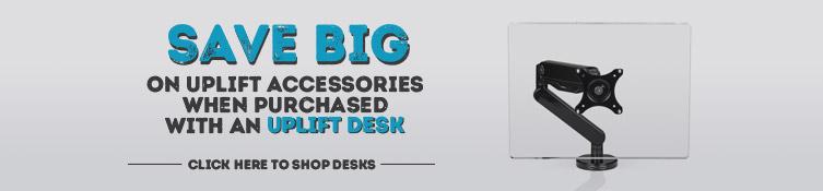 Save big on UPLIFT monitor arms when bundled with a desk. Shop UPLIFT desks now.
