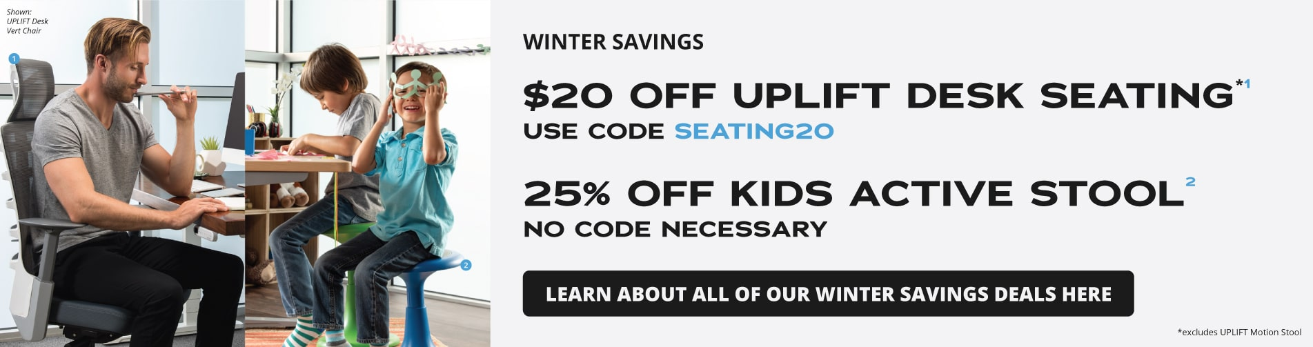 Winter Savings- $20 off UPLIFT Desk Seating