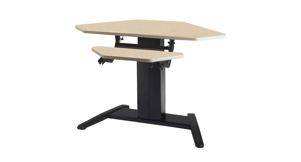 Mayline VariTask ESeries Electric Height Adjustable Corner Desk - Adjustable height table mechanism