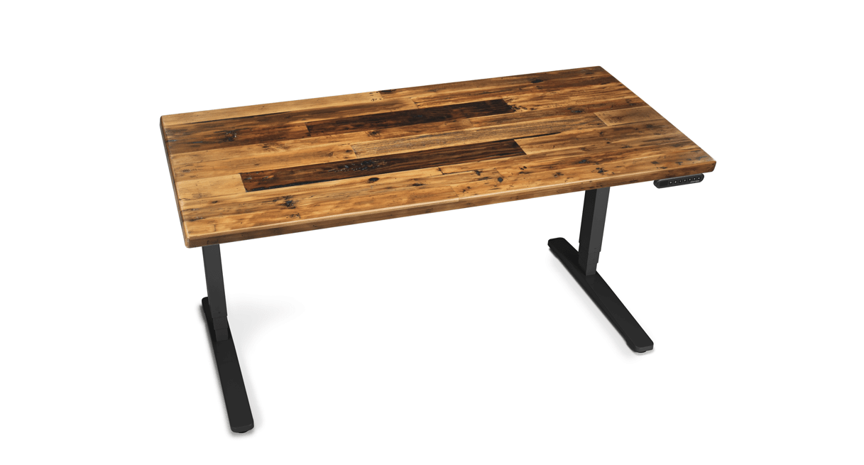Wooden Stand Up Desk ~ Uplift reclaimed wood stand up desks real recycled lumber