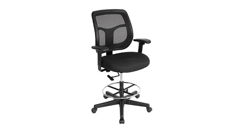 office drafting chair. The Raynor Apollo DFT9800 Drafting Chair\u0027s Padded Waterfall Seat Diminishes  Pressure To Your Thighs Office Drafting Chair I