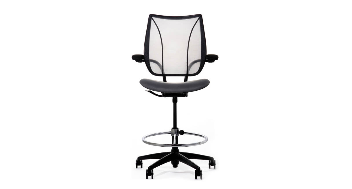 Features All Of The Adjustments And Customized Support Of The Liberty Chair  At Drafting Table Height
