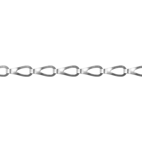 Sash Chain - 17.0mm x 5.0mm - Silver Nickel
