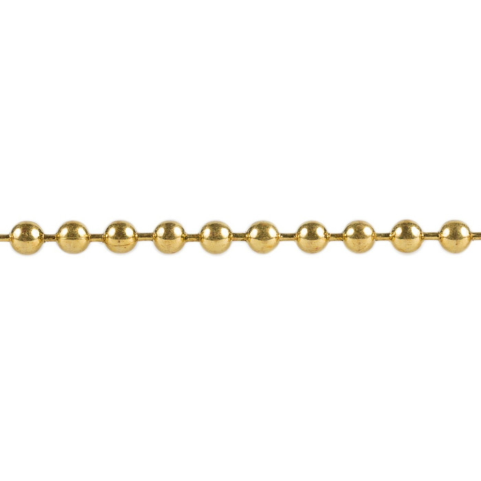 Ball Chain -  2.4mm - Brass