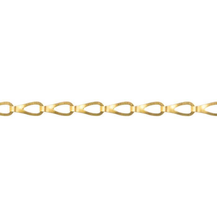 Sash Chain - 12.0mm x 4.5mm - Polished Brass
